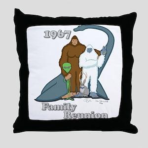 1967 Family Reunion Throw Pillow