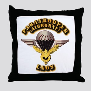 Airborne - Laos Throw Pillow