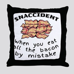 Snaccident Bacon Mistake Definition Throw Pillow