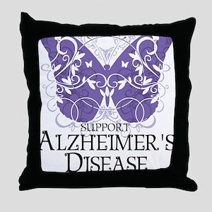 Alzheimers-Butterfly Throw Pillow