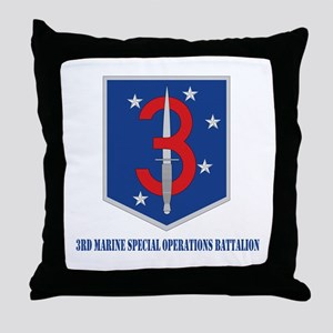 3d Marine Special Operations Bn with Text Throw Pi