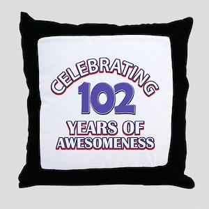 Celebrating 102 Years Throw Pillow