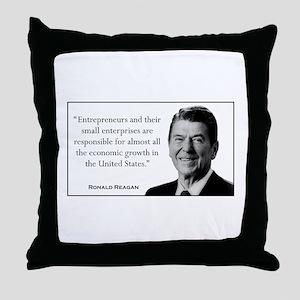 Ronald Reagan Quote #1 Throw Pillow