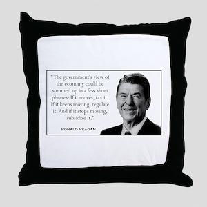 Ronald Reagan Quote #2 Throw Pillow