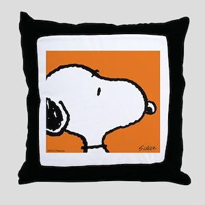Fresh Orange Snoopy Throw Pillow