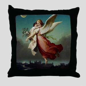 Guardian Angel by Wilhelm Von Kaulbac Throw Pillow