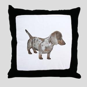 Speckled Dachshund Dog Throw Pillow