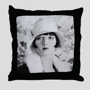 louise brooks silent movie star Throw Pillow