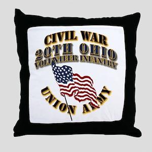 20th Ohio Volunteer Infantry Throw Pillow