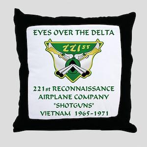 221st RAC Throw Pillow