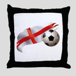 England Soccer Throw Pillow