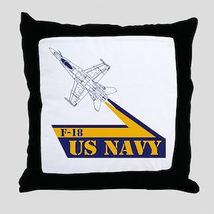 US NAVY Hornet F-18 Throw Pillow