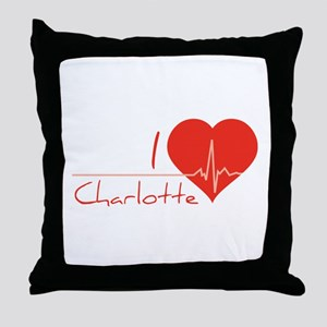 I love Charlotte Throw Pillow
