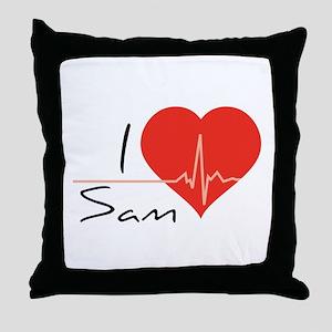 I love Sam Throw Pillow