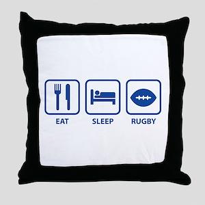 Eat Sleep Rugby Throw Pillow