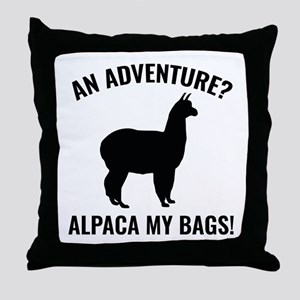 Alpaca My Bags Throw Pillow