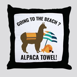 Alpaca Towel Throw Pillow