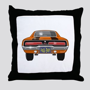 1969 Charger Bumper Throw Pillow