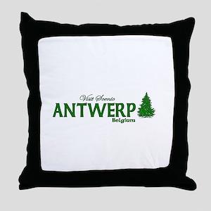 Visit Scenic Antwerp, Belgium Throw Pillow