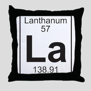 Element 057 - La (lanthanum) - Full Throw Pillow