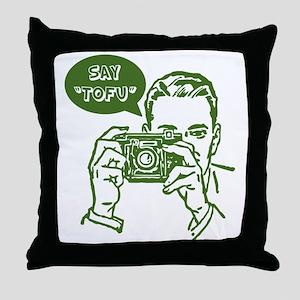 Say Tofu Throw Pillow