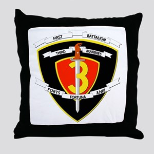SSI - 1st Battalion - 3rd Marines Throw Pillow