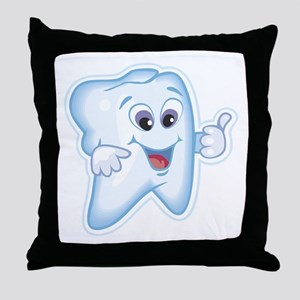 Funny Dentist Dental Humor Throw Pillow