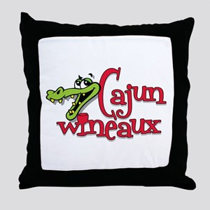 Cajun Wineaux Gator Throw Pillow