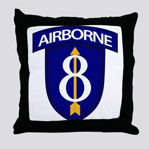 8th Infantry Airborne Throw Pillow