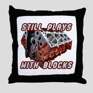 Engine Block Throw Pillow