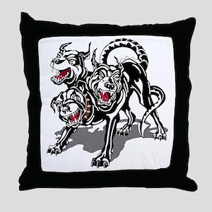 ARNG-127th-Infantry-HHC-Hellhound-Bla Throw Pillow