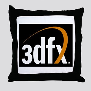 3dfx Interactive Inc Corporate Logo Throw Pillow