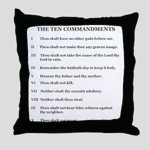Ten Commandments [text] Throw Pillow