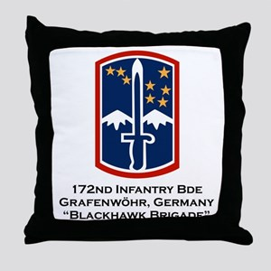 172nd Blackhawk Bde Throw Pillow