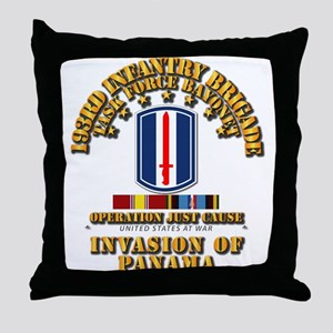 Just Cause - 193rd Infantry Bde w Sv Throw Pillow