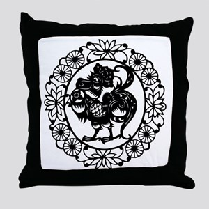RoosterB1 Throw Pillow
