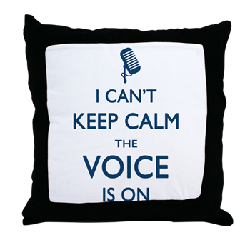 the voice throw pillow