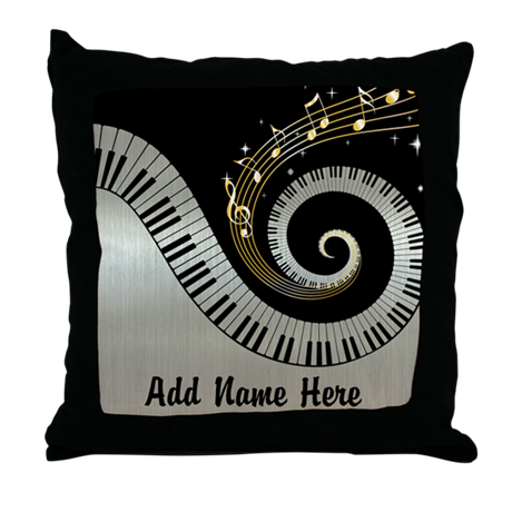 personalized mixed musical no Throw Pillow