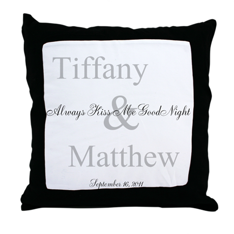 Customizable Always Kiss Me Goodnight Throw Pillow