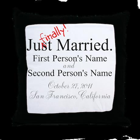 Finally Married Throw Pillow