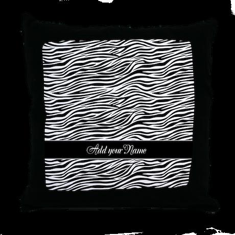 Add NAME Zebra Stripes Throw Pillow
