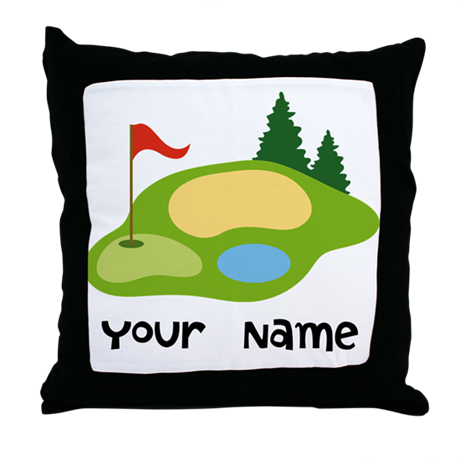 Personalized Golfing Throw Pillow