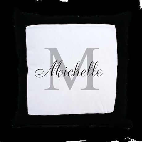 Personalized Monogram Name Throw Pillow