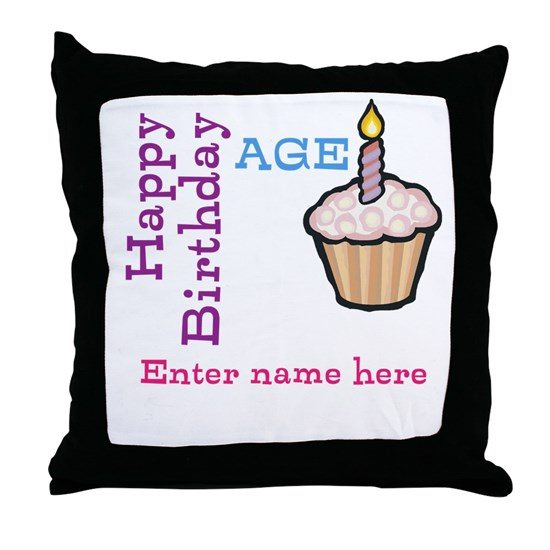 Personalized Birthday Cupcake