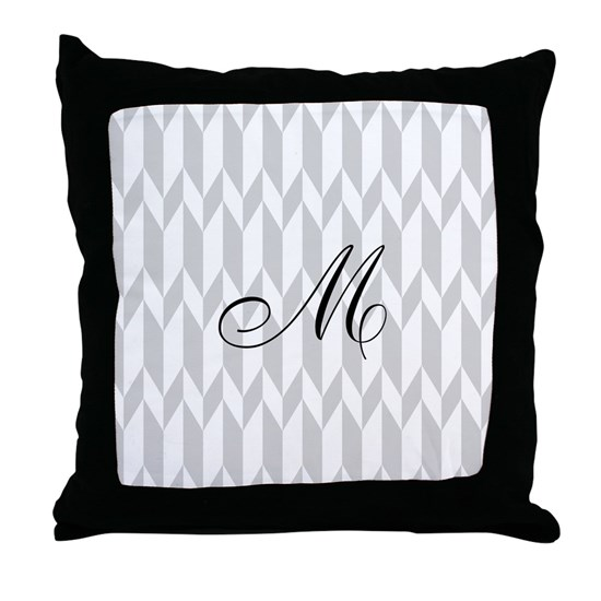 Monogram and Gray Graphic Pattern