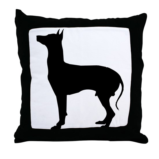 Gray hound dog silhouette