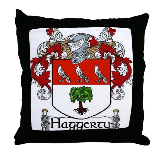 Haggerty Coat Of Arms Throw Pillow By Tisnancy Cafepress