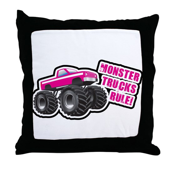 Pink Monster Truck Throw Pillow By Year Of The Tee Birthday T Shirts Cafepress