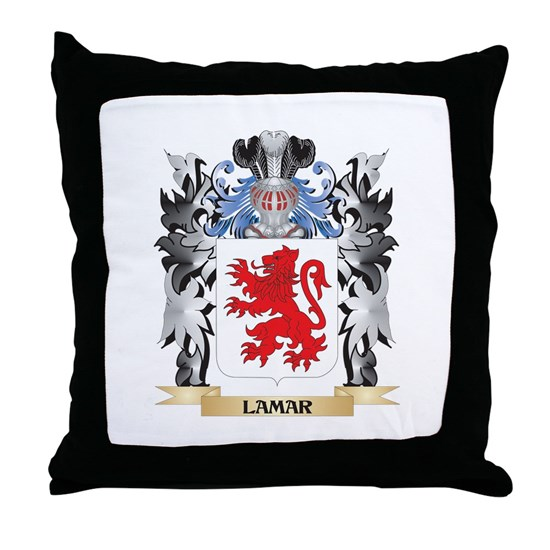 Lamar Coat Of Arms Family Crest Throw Pillow By Johnny Rico Cafepress