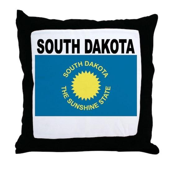 South Dakota State Flag Throw Pillow By Ken G Cafepress